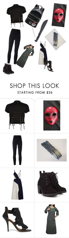 """""""creepypasta oc : Shinigami"""" by chaoticduck ❤ liked on Polyvore featuring River Island, Masquerade, Yeezy by Kanye West, Adeam, Red Herring and Givenchy"""