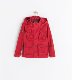 Image 1 of WASHED PARKA WITH DETACHABLE HOOD from Zara