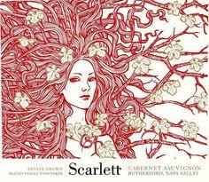 McGah Family Cellars - Scarlett | 'Otras 101 etiquetas de botellas de vino... (2ª parte)' by @Recetum