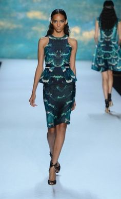 Life under the sea never looked so good - Monique Lhuiller, NY Fashion Week. Such a wearable look!