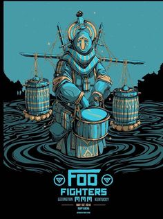 Foo Fighters Lexington Poster by Mike Fudge Music Drawings, Music Artwork, Art Music, Pop Posters, Band Posters, Music Posters, Foo Fighters Poster, Art Hippie, Pochette Cd
