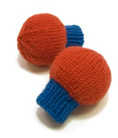 knit mittens for a baby.