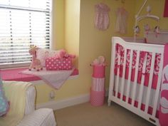 "baby girl room ""yellow walls"" pink accents - Google Search"