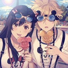 Final Fantasy 7 Tifa, Final Fantasy Artwork, Final Fantasy Characters, Final Fantasy Vii Remake, Fantasy Series, Fantasy World, Cloud And Tifa, Cloud Strife, Anime Friendship