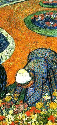 Vincent van Gogh,  Dame Di Arles ( Memorie Del Giardino Di Etten ), 1888 ( Detail ) on ArtStack #vincent-van-gogh #art