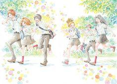 Suwa, Naho and Kakeru Orange Anime, Vocaloid, Manga Art, Anime Art, Takano Ichigo, Hotarubi No Mori, Fanart, Manga Love, Pokemon