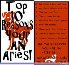 Top 10 Reasons you are an Aries. Pin it if you are an Aries Aries Astrology, Zodiac Signs Aries, Aries Horoscope, Zodiac Compatibility, Gemini, Aries Sign, Zodiac Facts, Zodiac City, Spiritual Horoscope
