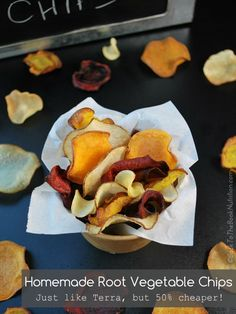 Crispy, homemade root vegetable chips - just like Terra, but much healthier and up to 50% cheaper!