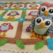 Happy Owl Afghan and Ami Crochet Patte - via @Craftsy