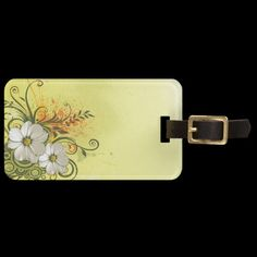 Shop Floral Fashion 9 Luggage Tags created by Ronspassionfordesign. Custom Luggage Tags, Standard Business Card Size, Leather Luggage, Floral Fashion, Printing Process, Prints, Bags, Personalised Luggage Tags, Handbags