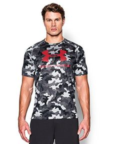 Under Armour Men's UA Tech™ Sportstyle Printed T-Shirt Large Steel | AMAZON.COM saved by #ShoppingIS