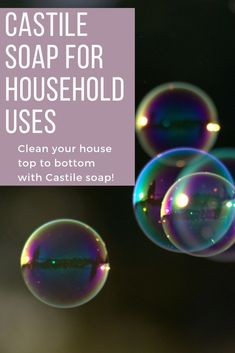 Nov 11, 2019 - Use castile soap to replace your toxic chemical household cleaners with a nontoxic, biodegradable, effective cleaning option. Natural Cleaning Solutions, Natural Cleaning Recipes, Natural Cleaning Products, Household Products, Household Cleaners, Diy Cleaners, Cleaning Tips, Castile Soap Uses, Castile Soap Recipes