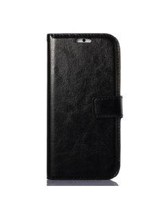 Δερμάτινη Θήκη Πορτοφόλι με Βάση Στήριξης (γυαλιστερή όψη) για iPhone 6 - Μαύρο