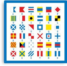 Nautical Flags Maritime Signals Alphabet Wall Art Print by Wittybetty - MEDIUM Nautical Flags, Nautical Theme, Nautical Bedroom, Alphabet Art, Canvas Prints, Art Prints, Office Gifts, Keepsake Boxes, Vibrant Colors
