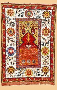KONYA (area) prayer rug, 1st half of 19th century.