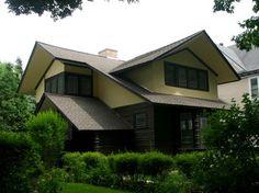 E. Arthur Davenport House. 1901. River Forest, Illinois. Prairie Style. Frank Lloyd Wright.