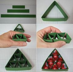 homemade-christmas-gift-green-paper-christmas-tree-candy