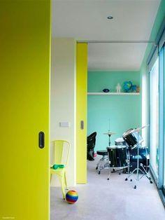 Neon Colour Combination For Interiors Peace Park 9273 Tech Green 7775