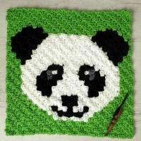 My Hobby Is Crochet: FREE CROCHET PATTERNS & TUTORIALS Crochet Panda, Crochet Gratis, C2c Crochet, All Free Crochet, Crochet Squares, Crochet Hooks, Beginner Crochet, Granny Squares, Square Patterns