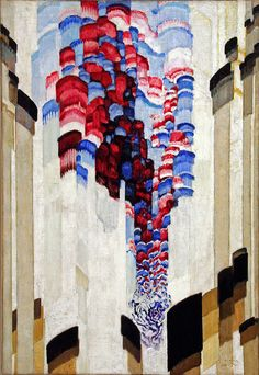 Frantisek Kupka Spouting Oil on Canvas. Seen in the Centre for Modern and Contemporary Art, Veletrzni (Trades Fair) Palace, Prague. Frantisek Kupka, Post Painterly Abstraction, Modern Art, Contemporary Art, Abstract Art Images, Hard Edge Painting, Francis Picabia, Marcel Duchamp, Kandinsky