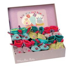 Slippers Display from the Les Jolis pas Beaux line! #629053 #magicforesttoys #moulinroty