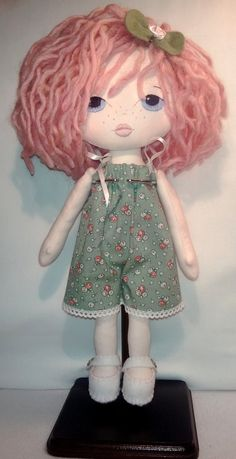 Gingermelon Little Lady Cloth Rag Doll is 12 inches