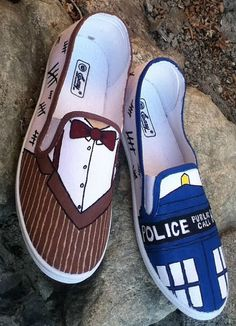 Doctor Who shoes made to order by FandomSkoene on Etsy, $35.00 -- DIY inspiration