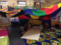 EYFS homemade den - role play - creative - classroom layout.... Wow!