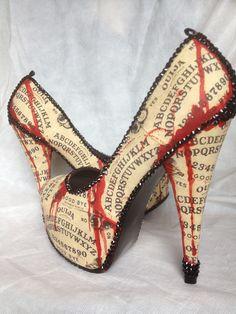 Bloody Horror Zombie Ouija Board Halloween Heels  Miss Fiendish | Facebook https://www.facebook.com/MissFiendish