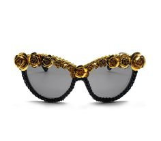 A-morir sunglasses. This would be a fun summer DIY with vintage bling on them.