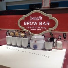Makeup By Arberesha : The Benefit Brow Bar! House Of Beauty, Beauty Room, Beauty Bar, Benefit Brow Bar, Home Nail Salon, Best Teeth Whitening Kit, Esthetician Room, Tooth Sensitivity, Salon Design