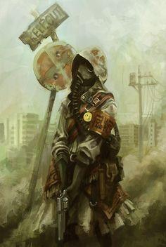 end of the world concept art apocalypse Character Concept, Character Art, Concept Art, Character Design, Post Apocalyptic Art, Post Apocalyptic Fashion, Cyberpunk, Tachisme, Dystopia Rising