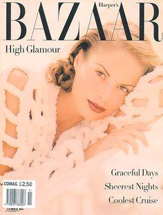 Anja Kneller  -  Harper's Bazaar Oct 1991 by Patrick D