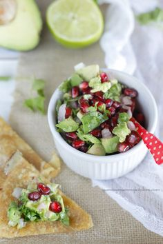 Pomegranate Avocado Salsa...