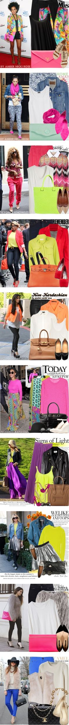 """""""Trend: Neon Colors"""" by amber-nicki-rose on Polyvore"""