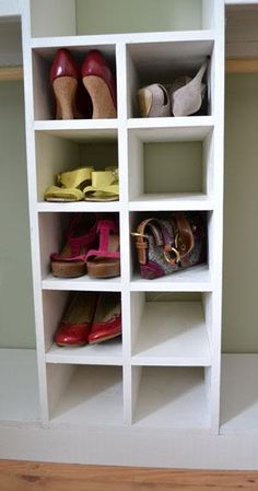 shoe closet... current thought on what to do with our small bedroom closet