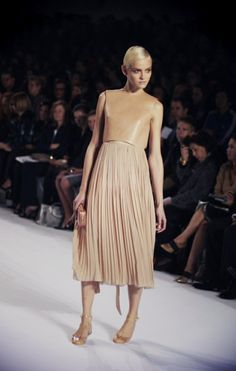 Chloe... leather and pleats