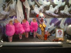 Cotton Candy Hands-the page this comes from has tons of inspiration for a carnival themed Halloween party!