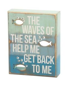 Primitives By Kathy Waves Of The Sea Box Sign