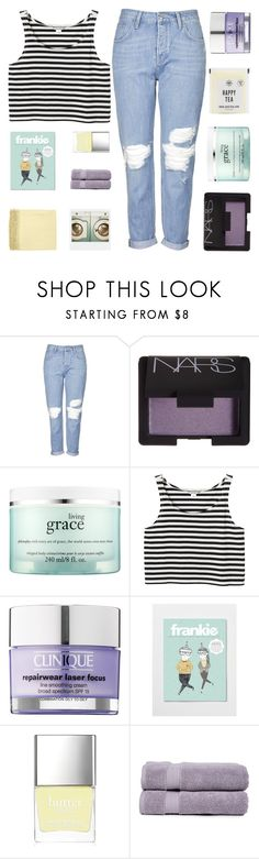 """""""JOIN SECRET SANTA (RTD)"""" by sunstorms ❤ liked on Polyvore featuring Topshop, NARS Cosmetics, philosophy, Monki, Clinique, Butter London, Pure Fiber, Surya and Polaroid"""
