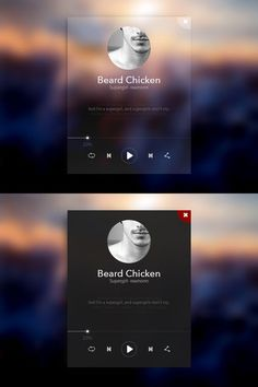 Music player | http://uidesigninspirations.blogspot.com