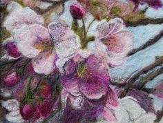 Beautiful felted pieces by textile artist Anne Goodhill Gohorel