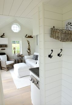 Small Beach Houses, Small Cottages, Beach Cottages, Small Cottage Interiors, Cottage Design, Cottage Plan, White Cottage, Two Bedroom Tiny House, New England Style Homes