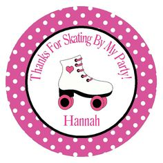 ROLLER SKATE FAVOR Tags/ Party Circles/ by traditionsbydonna, $8.00