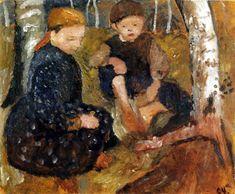 Paula Modersohn-Becker - Two kids in the woods