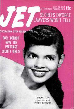 Jet Magazine cover, July 29, 1954. Evelyn Reid,