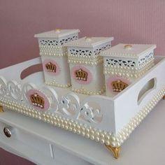 #kit do bebe #artesanato #decoraçao #bandejas - atelie_elefantinho_azul_