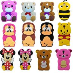 3D Cute Cartoon Silicon Soft Case Skin Cover for Samsung Galaxy SIV S4 i9500(animal phone cases)