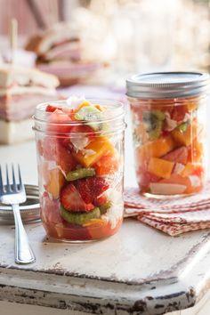 Fruit Salad in aJar - Read More at Relish.com
