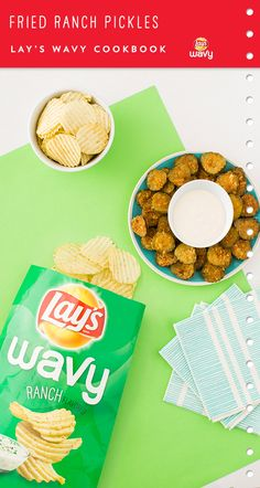 Use LAY'S® Wavy Ranch Potato Chips to whip up these Fried Ranch Pickles. Click pin to view the whole recipe.